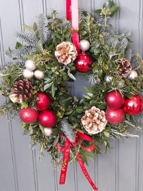 Putting on the Glitz Door Wreath