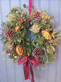 Christmas Harvest Door Wreath